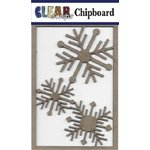 Clear Scraps - Chipboard Embellishments - Nordic Snowflakes