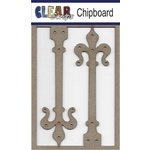 Clear Scraps - Chipboard Embellishments - Ornate Hinges