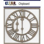 Clear Scraps - Chipboard Embellishments - Roman Clock with Arms