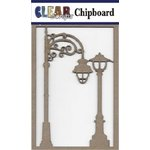 Clear Scraps - Chipboard Embellishments - Street Lights