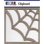 Clear Scraps - Chipboard Embellishments - Spider Web