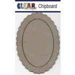 Clear Scraps - Chipboard Frame - Oval Scallop