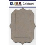 Clear Scraps - Chipboard Frame - Rectangle Deco