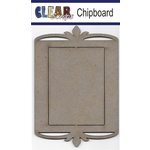 Clear Scraps - Chipboard Frame - Rectangle Deco Top
