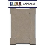 Clear Scraps - Chipboard Frame - Rectangle