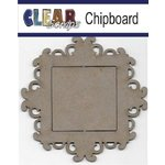 Clear Scraps - Chipboard Frame - Square Fancy