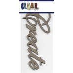 Clear Scraps - Chipboard Embellishments - Word - Script - Create