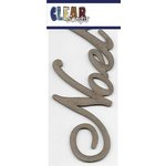 Clear Scraps - Chipboard Embellishments - Word - Script - Noel
