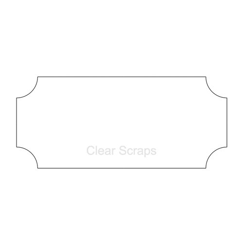 Clear Scraps - Clear Acrylic Plaque - Deco 1