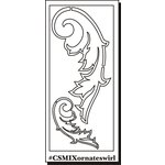 Clear Scraps - Clear Mixers - Clear Acrylic Stencil - Ornate Swirl Feather