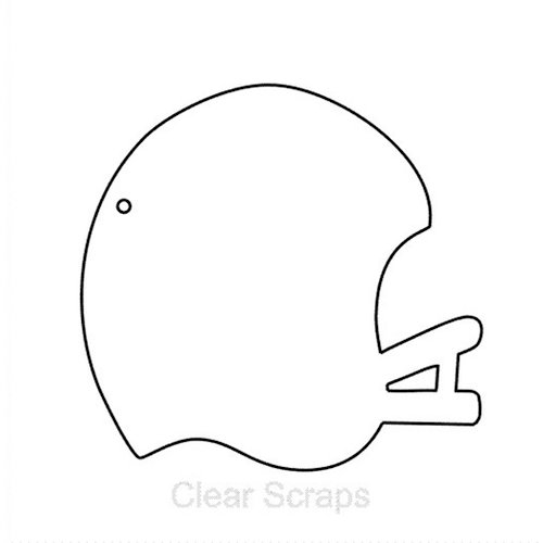 Clear Scraps - Clear Album - Mini Football Helmet