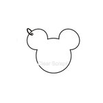 Clear Scraps - Clear Album - Mini Mouse Head