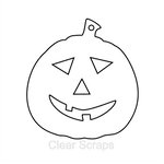 Clear Scraps - Halloween - Clear Album - Mini Pumpkin