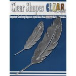 Clear Scraps - Mirror Embellishments - Feathers
