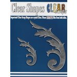 Clear Scraps - Mirror Embellishments - Ornate Flourish