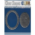 Clear Scraps - Mirror Embellishments - Frame - Oval Center Scallop