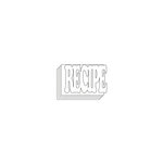 Clear Scraps - Clear Acrylic Mini Album with Cutout Word Cover - Recipe