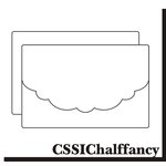 Clear Scraps - Send it Clear - Clear Card and Envelope - Half Fancy