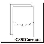 Clear Scraps - Send it Clear - Clear Card and Envelope - Ornate