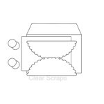 Clear Scraps - Send it Clear - Acrylic Card with Envelope - Scallop