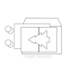 Clear Scraps - Send it Clear - Acrylic Card with Envelope - Christmas Tree