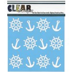 Clear Scraps - Mascils - 12 x 12 Masking Stencil - Anchors and Helms
