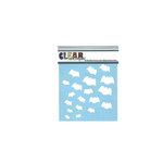 Clear Scraps - Mascils - Halloween - 6 x 6 Masking Stencil - Bats