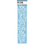 Clear Scraps - Mascils - Border Masking Stencil - Floral 2