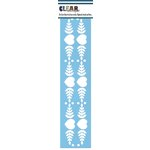 Clear Scraps - Mascils - Border Masking Stencil - Folk Hearts