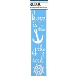 Clear Scraps - Mascils - Border Masking Stencil - Hope is the