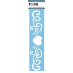 Clear Scraps - Mascils - Border Masking Stencil - Heart Flourish
