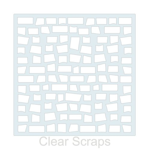 Clear Scraps - Mascils - 12 x 12 Masking Stencil - Brick