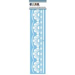 Clear Scraps - Mascils - Border Masking Stencil - Lace Doily