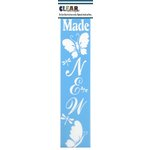 Clear Scraps - Mascils - Border Masking Stencil - Made New