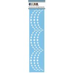 Clear Scraps - Mascils - Border Masking Stencil - Pearl Swag