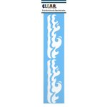 Clear Scraps - Mascils - Border Masking Stencil - Waves