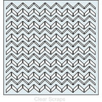 Clear Scraps - Mascils - 12 x 12 Masking Stencil - Chevron