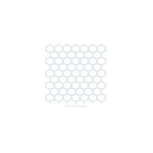 Clear Scraps - Mascils - 6 x 6 Masking Stencil - Chicken Wire