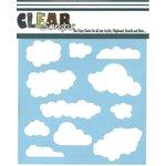 Clear Scraps - Mascils - 12 x 12 Masking Stencil - Clouds