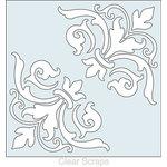 Clear Scraps - Mascils - 12 x 12 Masking Stencil - Corner Flourish