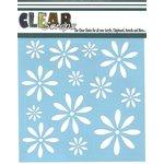 Clear Scraps - Mascils - 12 x 12 Masking Stencil - Daisies