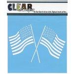 Clear Scraps - Mascils - 12 x 12 Masking Stencil - Dual Flags