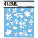 Clear Scraps - Mascils - 6 x 6 Masking Stencil - Fall Leaves Background