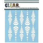 Clear Scraps - Mascils - 12 x 12 Masking Stencil - Fern Leaf
