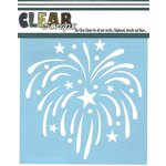 Clear Scraps - Mascils - 12 x 12 Masking Stencil - Fireworks