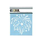 Clear Scraps - Mascils - 6 x 6 Masking Stencil - Fireworks
