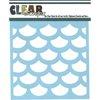 Clear Scraps - Mascils - 12 x 12 Masking Stencil - Fish Scales