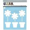 Clear Scraps - Mascils - 12 x 12 Masking Stencil - Flower Pots
