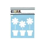 Clear Scraps - Mascils - 6 x 6 Masking Stencil - Flower Pots
