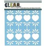 Clear Scraps - Mascils - 12 x 12 Masking Stencil - Folk Hearts